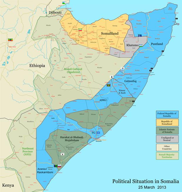 Somalialand map